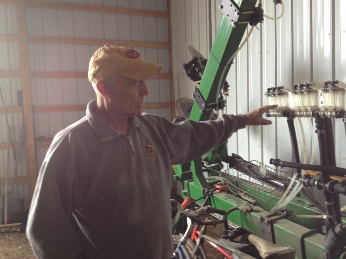 SPOON FEEDING NUTRIENTS. Legvold applies only a small amount of nitrogen in his fall strips and applies 40 pounds per acre of banded urea with his 12-row strip-till unit in spring. He then sidedresses the balance with a custom rig, according to the Iowa State Corn Nitrogen Rate Calculator recommendation.