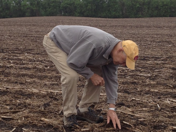BENEATH THE SOIL. Since adopting strip-till 9 years ago, Minnesota's David Legvold has focused on analyzing and improving soil health through extensive soil testing and use of technology like lysimeters to track nitrogen loss beneath corn plants.